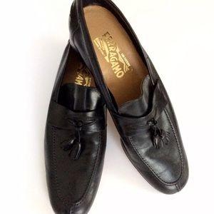 Salvatore Ferragamo Loafers 10 N  Leather Tassles